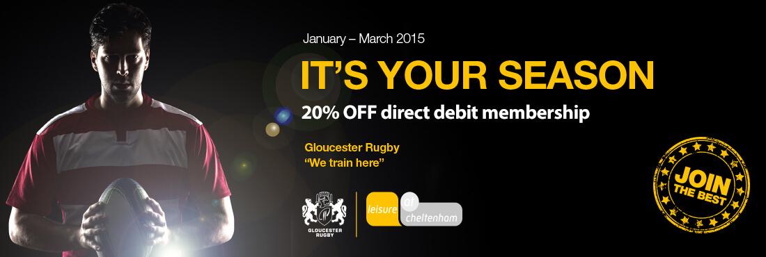 20% off direct debit membership, January - March 2015